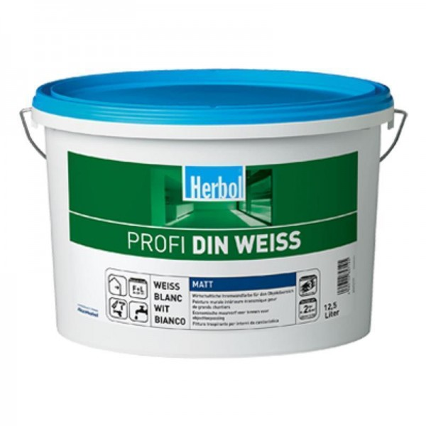 9 x Herbol Wandfarbe Profi DIN-WEISS 12,5l