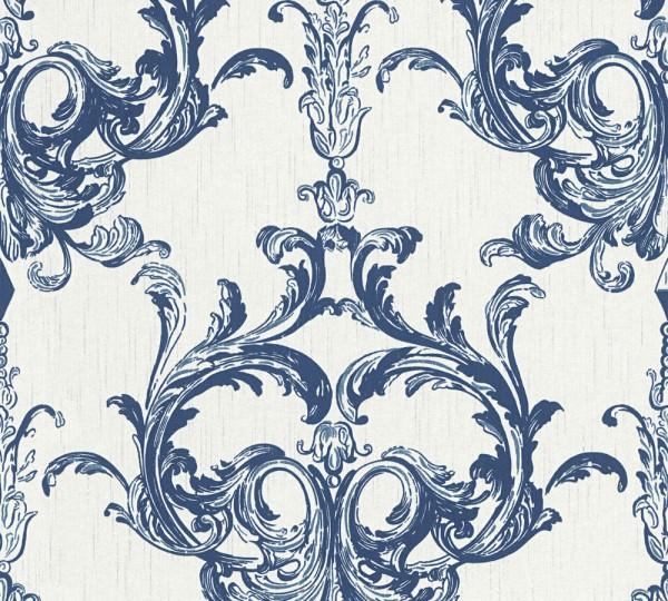 A.S. Création, Tessuto 2, # 961964, Vliestapete, Blau Weiß