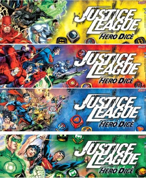 Justice League: Hero Dice (Batman, Superman, Green Lantern & Flash, Englisch)