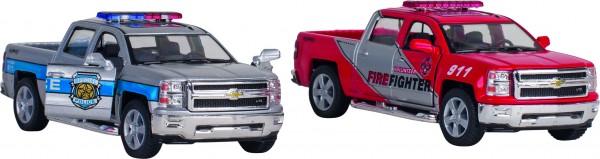 GOKI Polizei und Feuerwehr Chevrolet Silverado, L= 12,5 cm