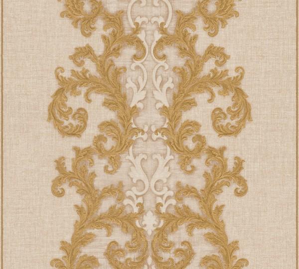 A.S. Création, Versace 2, # 962323, Vliestapete, Beige Creme Metallic, 10,05 m x 0,70 m