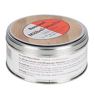 Renuwell - Möbelwachs 500 ml natura-farblos, pastös, einwachsen, reinigen, pflegen