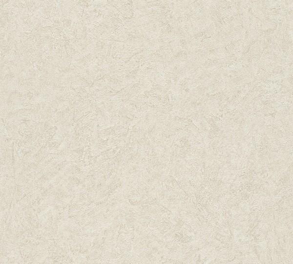A.S. Création, Titanium, # 315434, Vliestapete,uni, Beige Creme Metallic