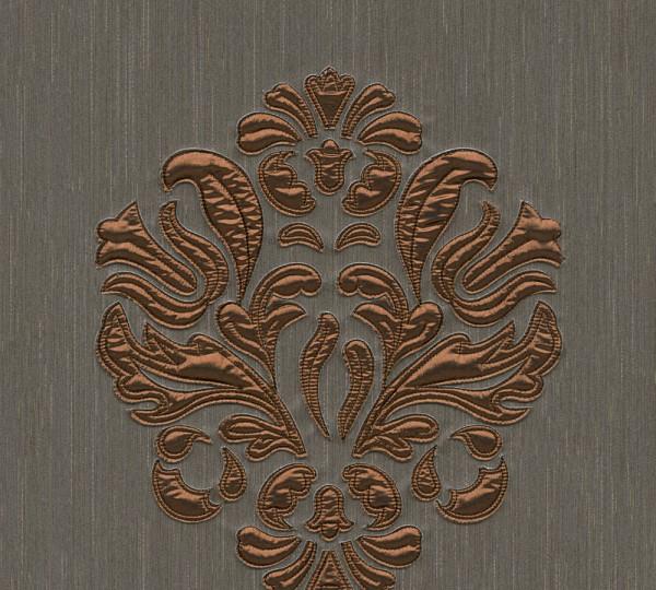 A.S. Création, Wall Fashion, # 306345, Vliestapete, Braun Metallic, 3,20 m x 0,53 m