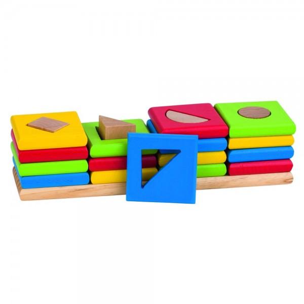 Sortierspiel Farben und Formen Die 4 Türme