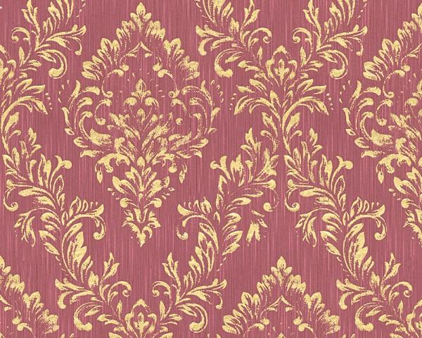 A.S. Création, Metallic Silk, # 306596, Vliestapete, Rot Metallic