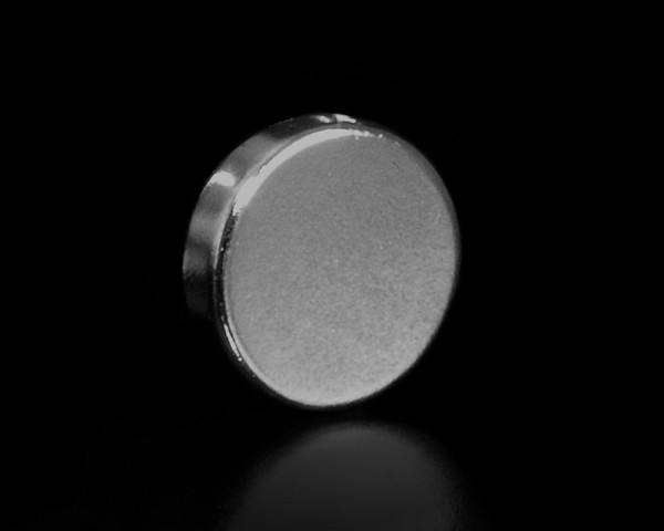 A.S. Création, pop.up Magnet 3, ø 20 x 5 mm, # 468161 , Metallic silber, Magnetknopf