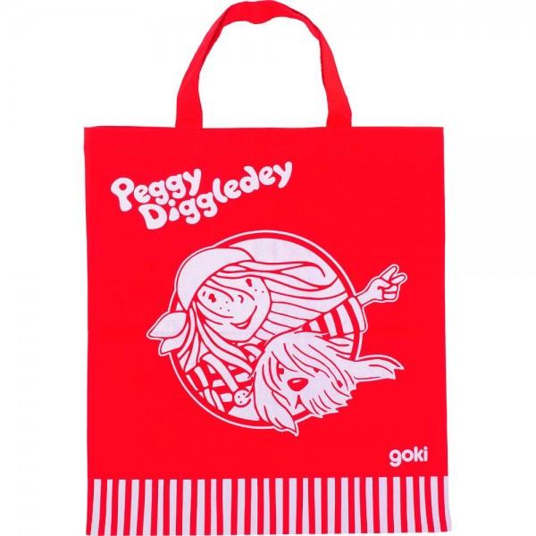 Baumwolltragetasche, Peggy Diggledey