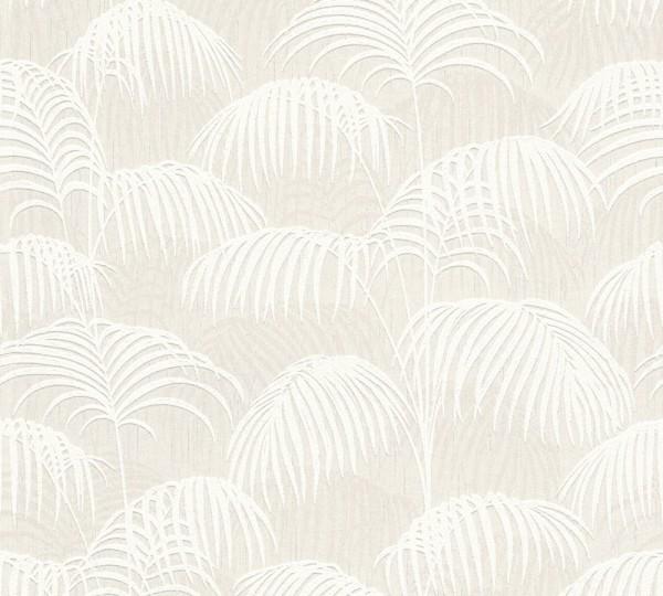 A.S. Création, Tessuto 2, # 961981, Vliestapete, Creme Weiß