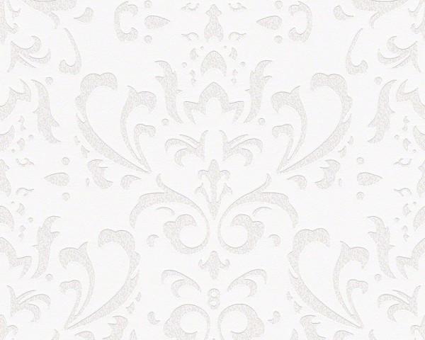 A.S. Création Tapete - NAF-NAF Tapete, Neo-Barock, # 952261, creme weiß, 10,05m x 0,53m