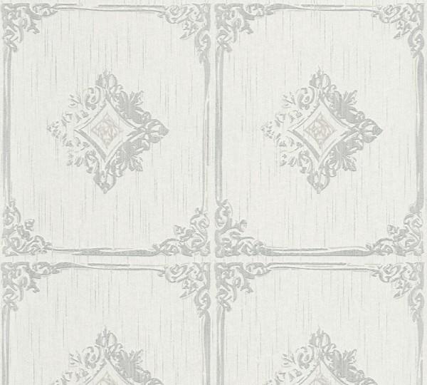 A.S. Création, Tessuto 2, # 961991, Vliestapete, Grau Weiß
