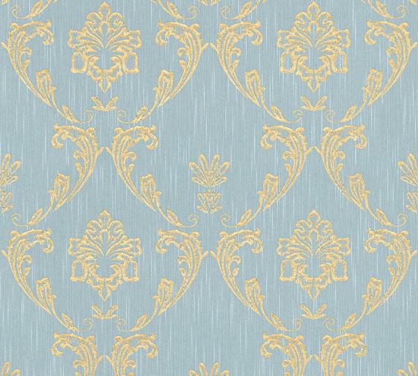 A.S. Création, Metallic Silk, # 306586, Vliestapete, Blau Grün Metallic