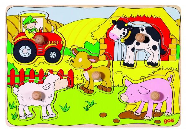 Steckpuzzle Auf dem Bauernhof
