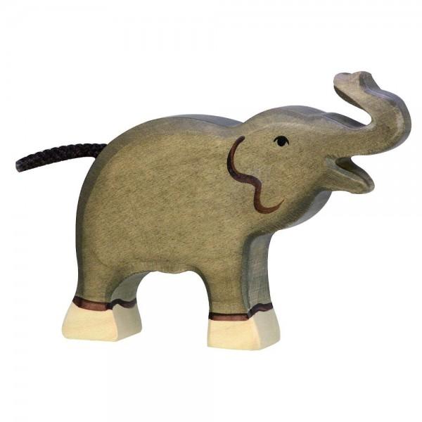 Elefant, klein, Rüssel hoch