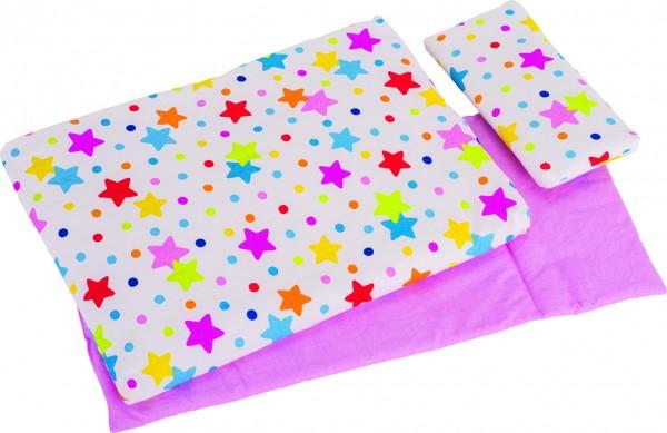Puppenbettzeug Sterne