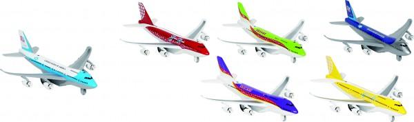 Flugzeuge mit Licht und Geräusch, Spritzguss, L= 18,5 cm