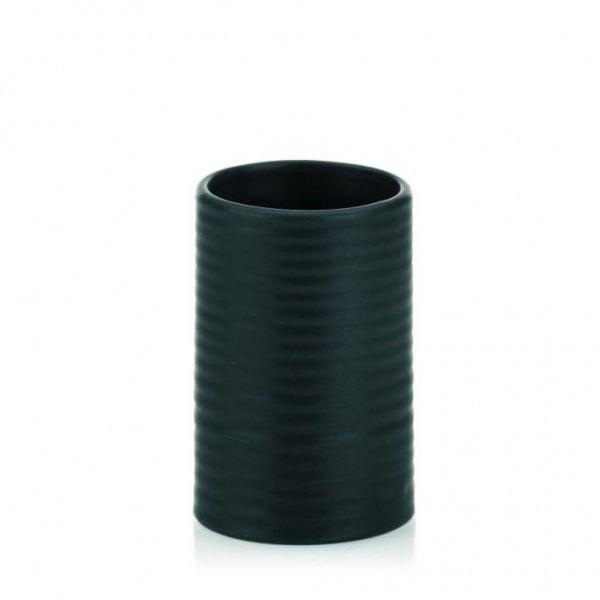 Kela Becher Groove #20794 Keramik schwarz