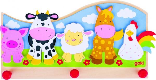 Garderobe Tiere auf dem Bauernhof