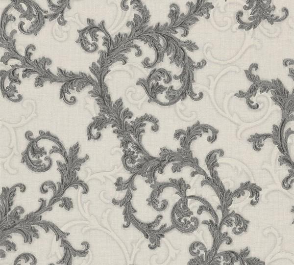 A.S. Création, Versace 2, # 962315, Vliestapete, Grau Metallic Weiß, 10,05 m x 0,70 m