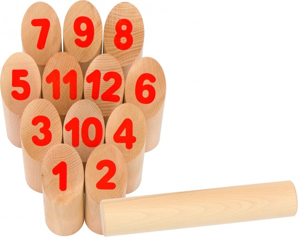 Wikingerspiel Number Kubb, im Baumwollbeutel