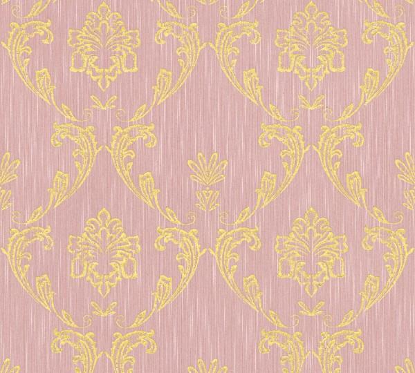 A.S. Création, Metallic Silk, # 306585, Vliestapete, Rosa Metallic