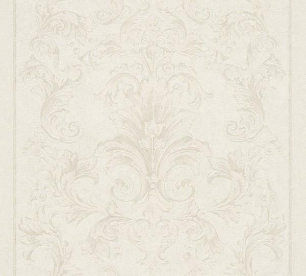 A.S. Création, Versace 2, # 962164, Vliestapete, Creme Metallic Weiß, 10,05 m x 0,70 m
