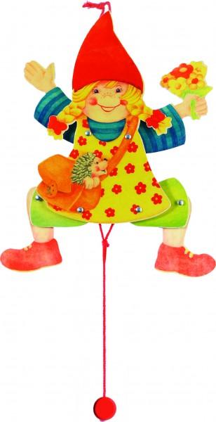 GOKI Hampelfigur Mädchen, Holzspielzeug