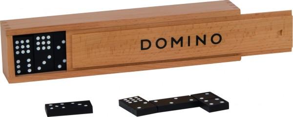 Dominospiel im Holzkasten