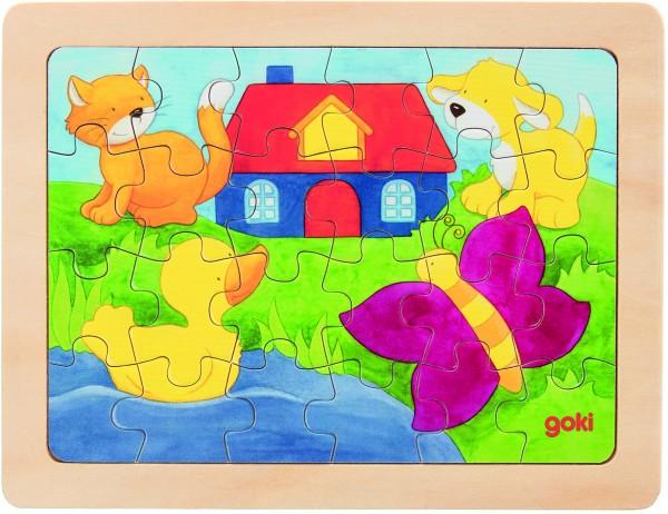 GOKI Einlegepuzzle 1000 Farben