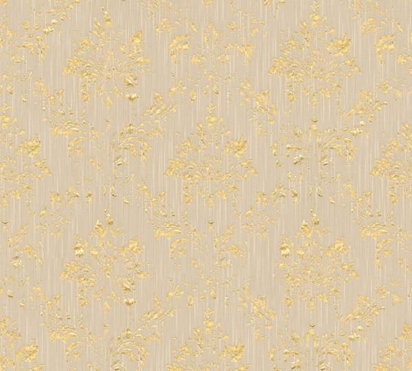 A.S. Création, Metallic Silk,# 306624, Vliestapete, Beige Metallic