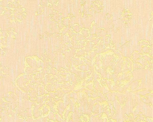 A.S. Création, Metallic Silk, # 306573, Vliestapete, Creme Metallic