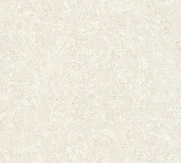 A.S. Création, Nobile, # 959402, Vliestapete, Metallic Weiß, 10,05 m x 0,70 m