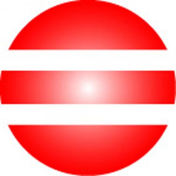 Clickhalbperle rot/weiß gestreift