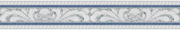 A.S. Création, Only Borders 10, # 681645, Borte aus Papier, Blau Grau Weiß