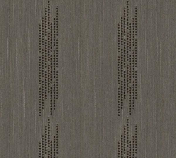 A.S. Création, Wall Fashion, # 306075, Vliestapete, Braun Metallic,3,20 m x 0,53 m