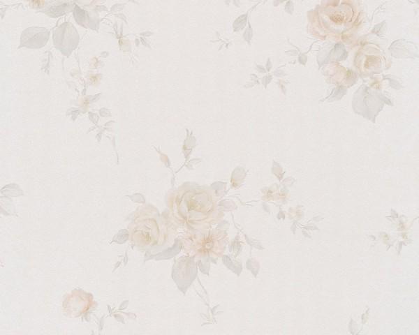 A.S. Création, SG Klassisch19, # 978318, Papiertapete, creme, beige, Blüten, 10,05m x 0,53m