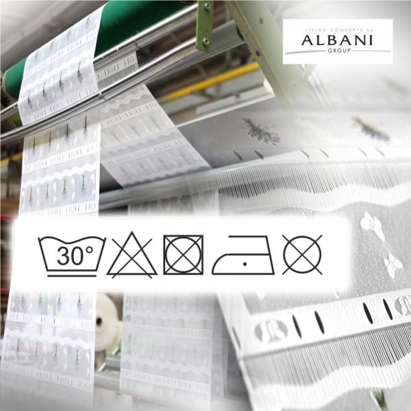 Albani Willkommen Zuhause Hannes, Schlaufenpanneaux aus Käseleinen, Weiß, 45 x 140 cm