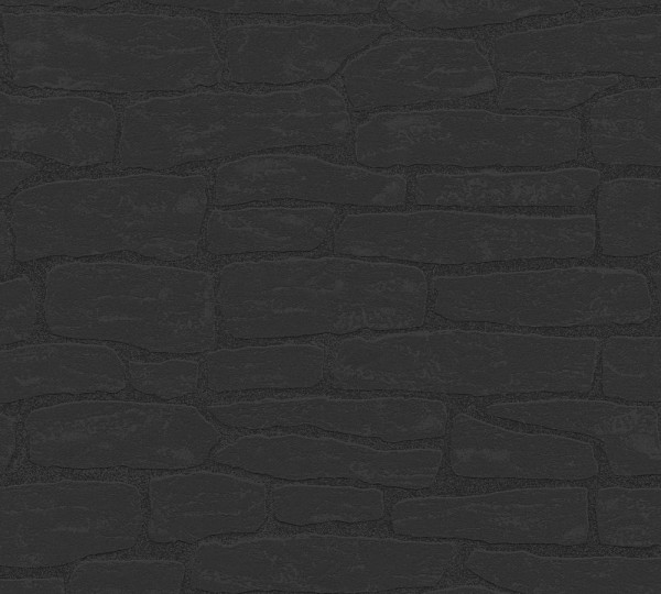 A.S. Création, Best of Wood`n Stone 2nd Edition, # 139511, Vliestapete, Schwarz