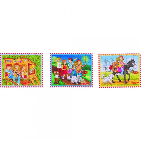 GOKI Mini Puzzle, Peggy Diggledey 3 fach sortiert
