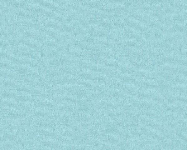 A.S. Creation Tapete - Paloma, # 309877 , Vliestapete, uni, blau, 10,05m x 0,53m