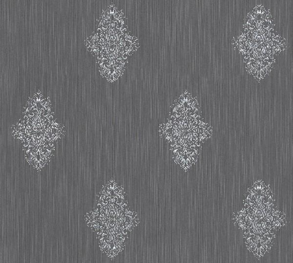 A.S. Création, Luxury wallpaper, # 319464, Vliestapete, Grau Metallic
