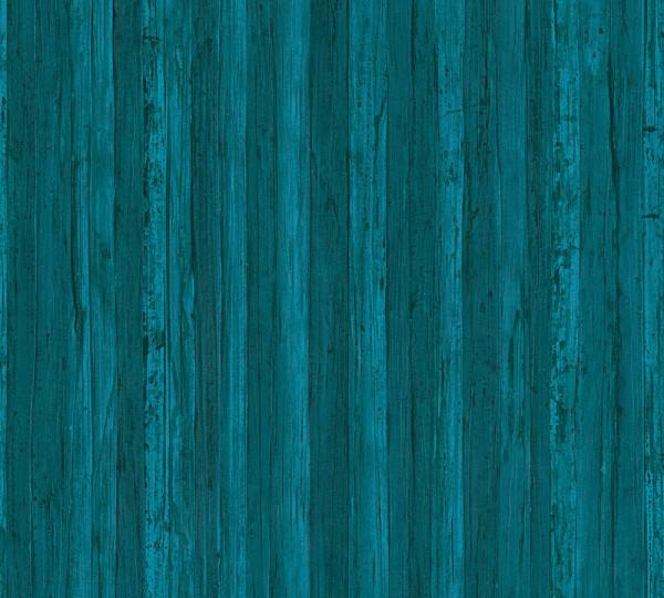 A.S. Création, Borneo, # 327145, Vliestapete, Holzoptik, Blau