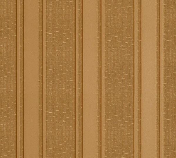 A.S. Création, Versace 2, # 962371, Vliestapete, Streifen, Braun Gelb Metallic, 10,05 m x 0,70 m