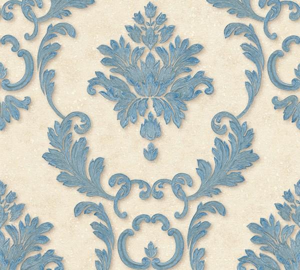 A.S. Création, Luxury wallpaper, # 324222, Vliestapete, Blau Creme Metallic