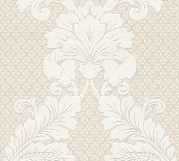 A.S. Création, Luxury wallpaper, # 305441, Vliestapete, Creme Metallic