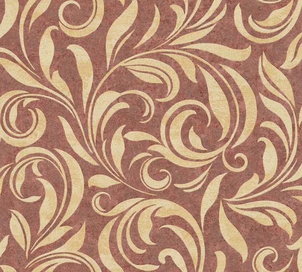 A.S. Création, Nobile, # 959403, Vliestapete, Beige Metallic Rot, 10,05 m x 0,70 m