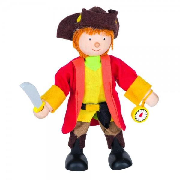 Biegepuppe Piratenkapitän