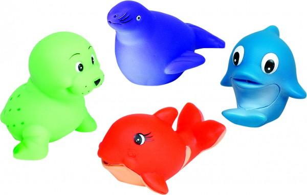 Wasserspritztiere, Wal, Walross, Delfin, Robbe