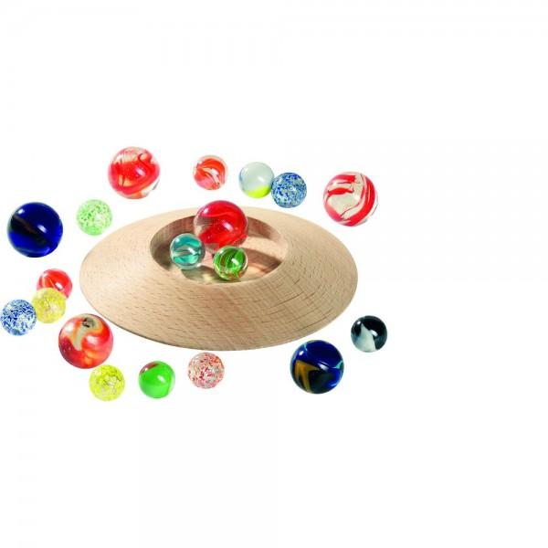 Murmeltellerspiel mit 31 Murmeln