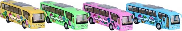 GOKI Reisebus mit Druck,Spritzguß, L= 18 cm